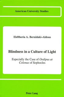 "Cover of the book : ""Blindness in a culture of light"""
